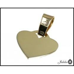 Złota zawieszka w kształcie serca p 585 8441970814