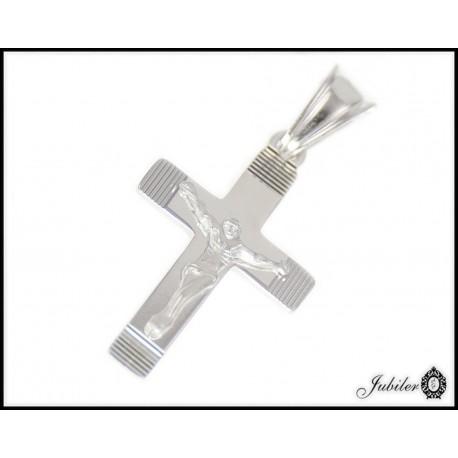 Srebrna zawieszka krzyżyk z Jezusem próba 925 8472946360