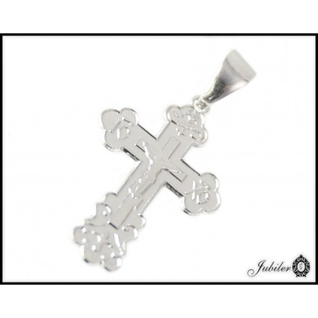 Srebrna zawieszka krzyżyk prawosławny próba 925 8475971831