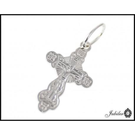 Srebrna zawieszka krzyżyk prawosławny próba 925 8476069975