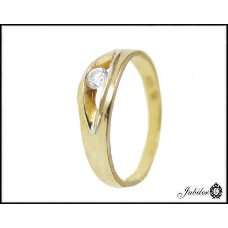 Piękny złoty pierścionek zdobiony cyrkonią p. 333 8547878747