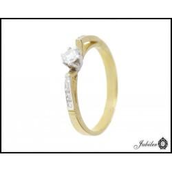 Piękny złoty pierścionek zdobiony cyrkoniami p 333 8581193267