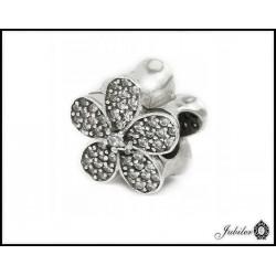 Srebrna zawieszka - charms - kwiatek (1380034826)
