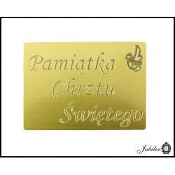 Złoty naszyjnik - celebrytka - koniczynka
