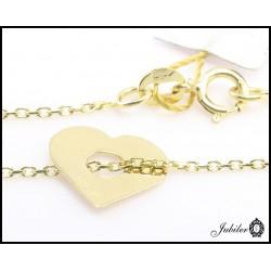Złoty naszyjnik - celebrytka - serce
