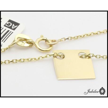 Złoty naszyjnik - celebrykta - kwadrat