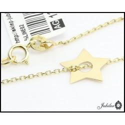 Złoty naszyjnik - celebrytka - gwiazdka