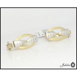 Złote kolczyki częściowo rodowane (25218)