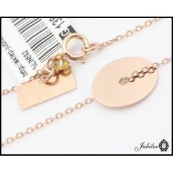 Złoty naszyjnik celebrytka z motywem koła (26299)