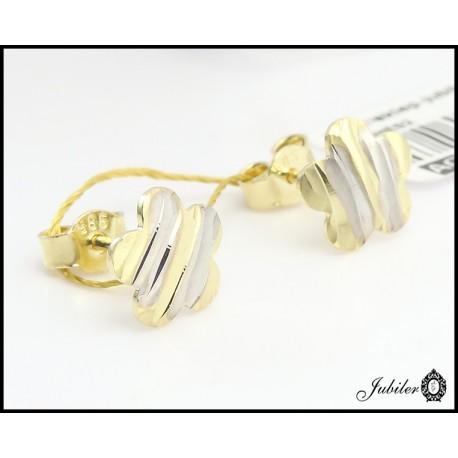 Złote kolczyki kwiatki (26617)
