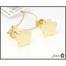 Złote kolczyki - kwiatki (26616)