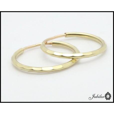 Złote kolczyki koła (26958)