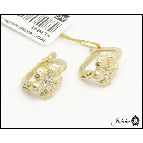 Złote kolczyki kwiatki (26983)