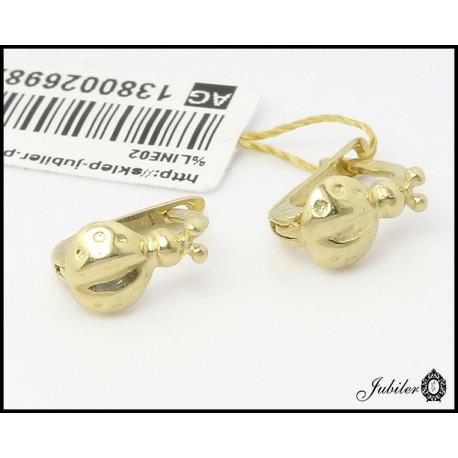 Złote kolczyki biedronki (26982)