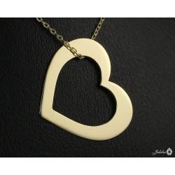Złoty naszyjnik - serce (27139)