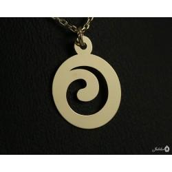 Złoty naszyjnik celebrytka spirala swirl (27145)