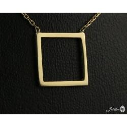 Złoty naszyjnik kwadrat (27148)