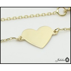 Gold necklace - celebrytka- heart (27163)