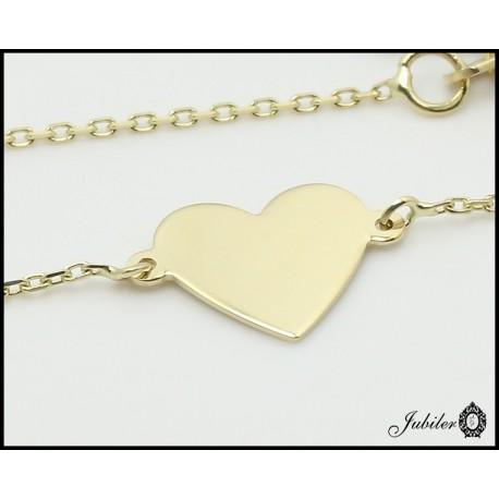 Złoty naszyjnik - celebrytka- serce (27163)