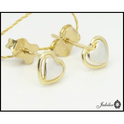 Gold earrings hearts (27275)