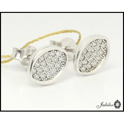 Gold earrings with cubic zirconia (27257)