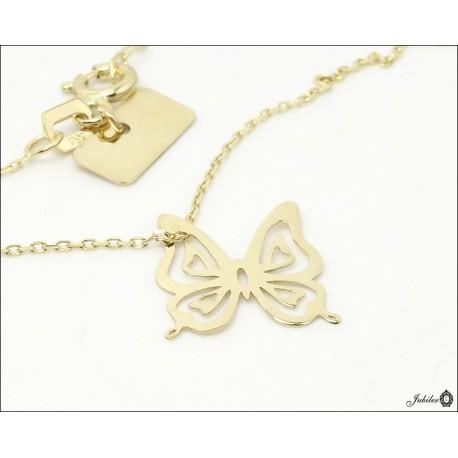 Złoty naszyjnik - celebrytka - motyl