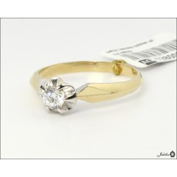 Gold ring decorated with cubic zirconia (27709)