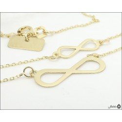 Gold necklace celebrity double infinity (28422)