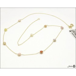 Gold necklace with cubic zirconia (28426)