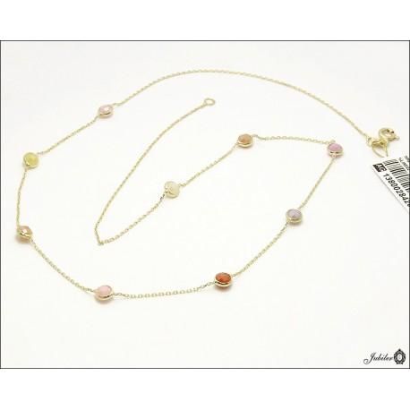 Złoty naszyjnik z cyrkoniami (28426)