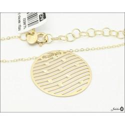 Złoty naszyjnik celebrytka ażurowe koło (29663)