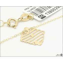 Złoty naszyjnik celebrytka ażurowy kwadrat (29661)