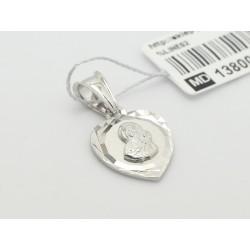 Srebrny medalik - Matka Boska z Dzieciątkiem (31556,31557)