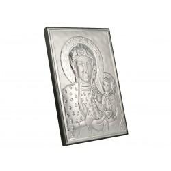 Posrebrzany obrazek - Matka Boska Częstochowska (1380033733)