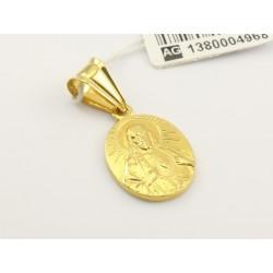 Złoty medalik Serce Jezusa (1380004968)